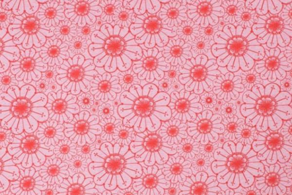 jersey fleurs rose Lina