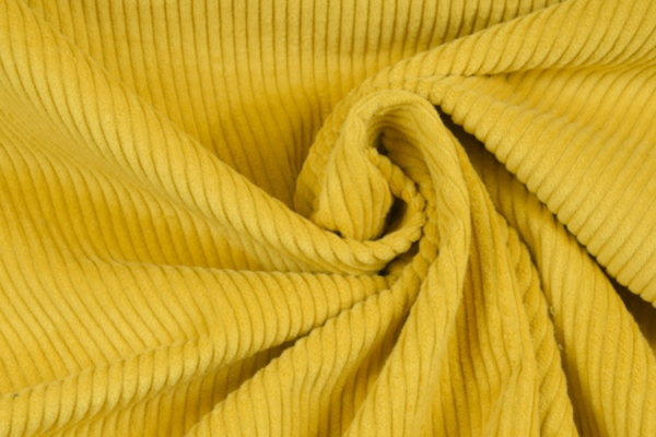 velours grosses côtes moutarde