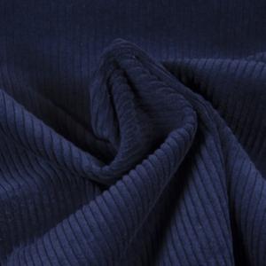 velours grosses côtes bleu nuit