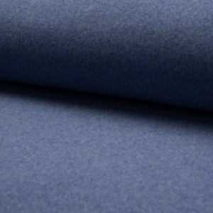 tissu polaire coton BIO bleu jeans
