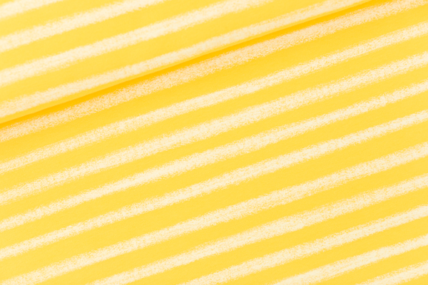 french terry Chalk stripes - citron rayé