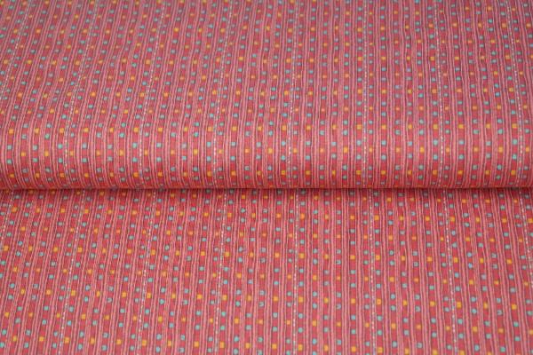 tissu jersey lignes pop saumon