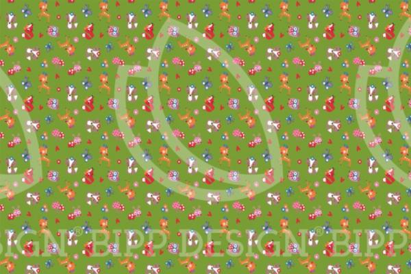tissu jersey animaux de la forêt