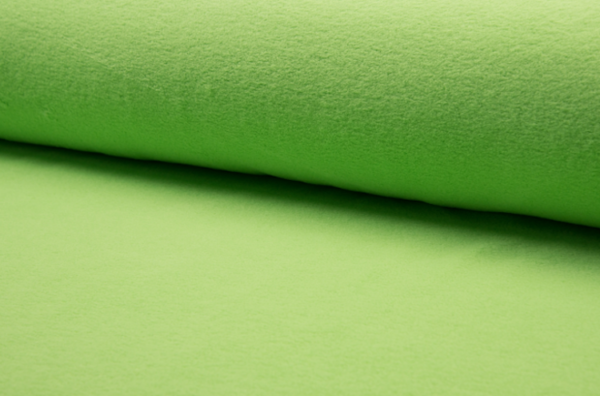 tissu polaire vert anis oeko tex