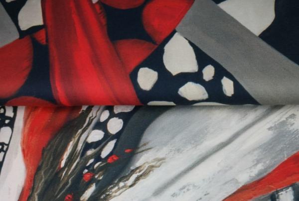 panneau tissu jersey femme noir et blanc 150 cm x 150 cm