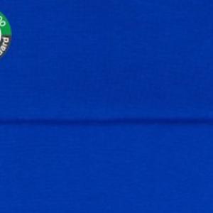 tissu bord côte bleu cobalt oeko tex