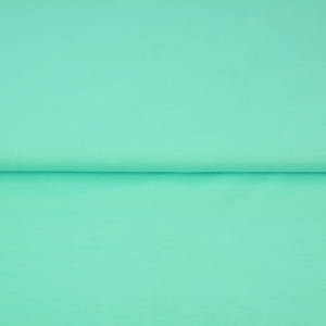 tissu bord côte bleu menthe oeko tex