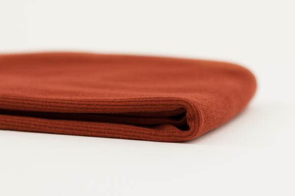 tissu bord côte brun épicé oeko tex See You at Six