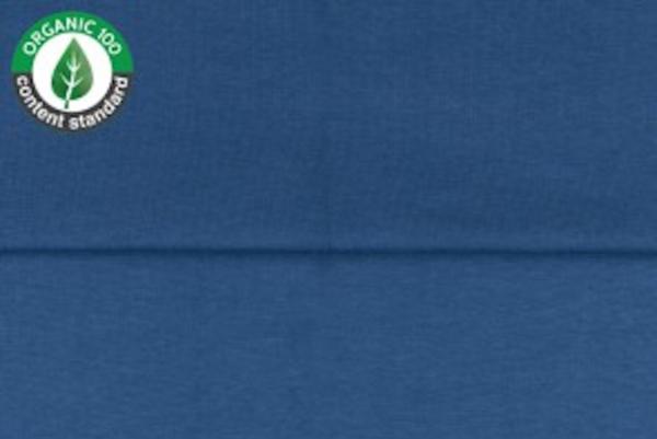 tissu bord côte bleu jeans oeko tex