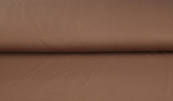 tissu bord côte marron oeko tex