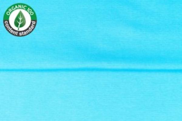 tissu bord côte aqua oeko tex