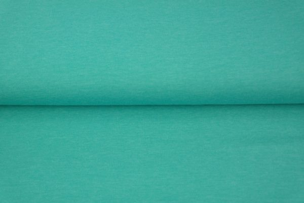 tissu jersey turquoise chiné oeko tex