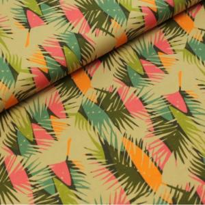 tissu jersey surfs et palmiers OEKOTEX Meghan blue