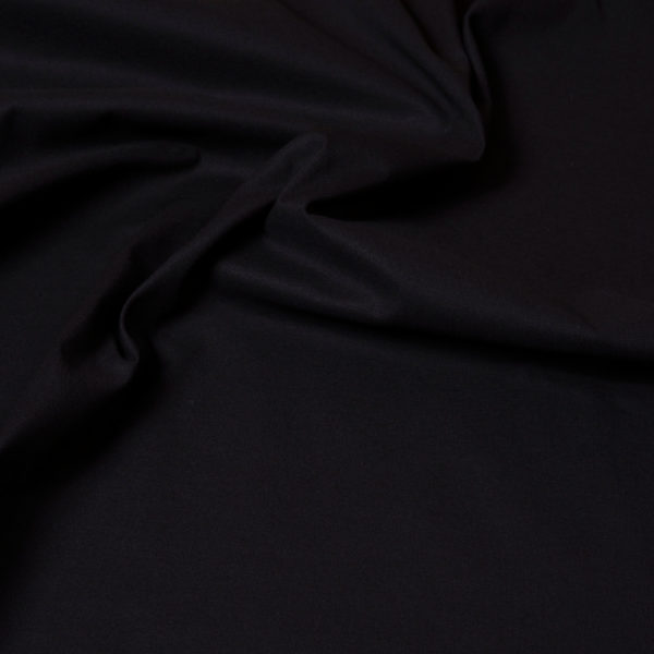 tissu coton uni noir oekotex Hilco