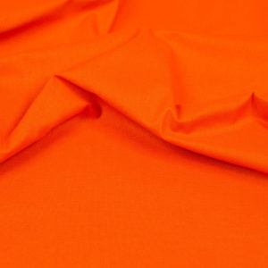 tissu coton uni orange oekotex Hilco