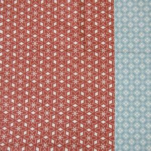 tissu coton bi colors bordeau-bleu oekotex Hilco