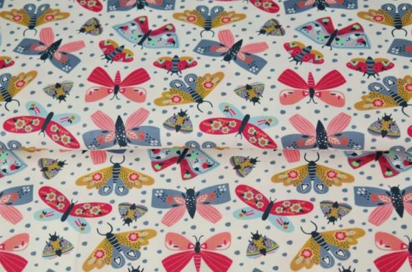 tissu jersey papillons multi-colors oekotex Stenzo
