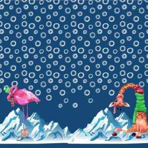 panneau tissu animaux hiver Oeko tex Stenzo