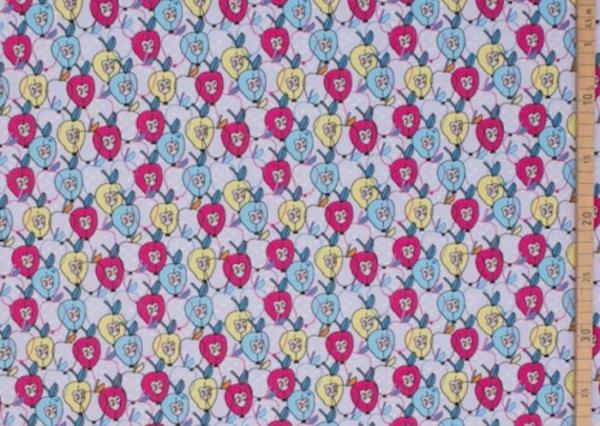 tissu jersey Pommes Lllesoff BIO