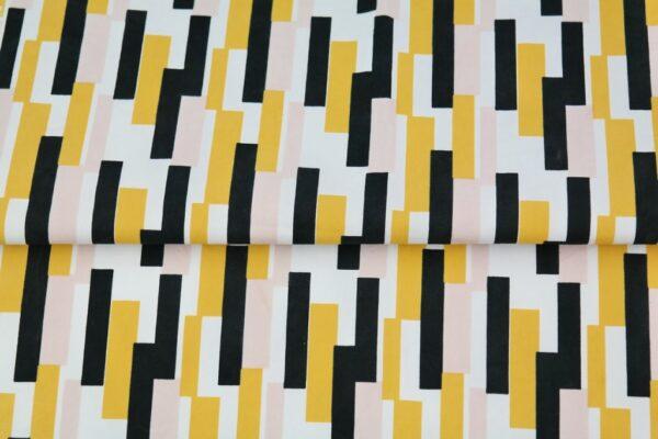 """tissu coton """"origami"""" lignes oeko tex"""