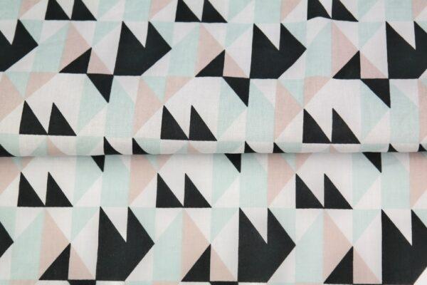 """tissu coton """"origami"""" triangle oeko tex"""