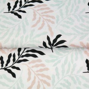 """tissu coton """"origami"""" fougères oeko tex"""