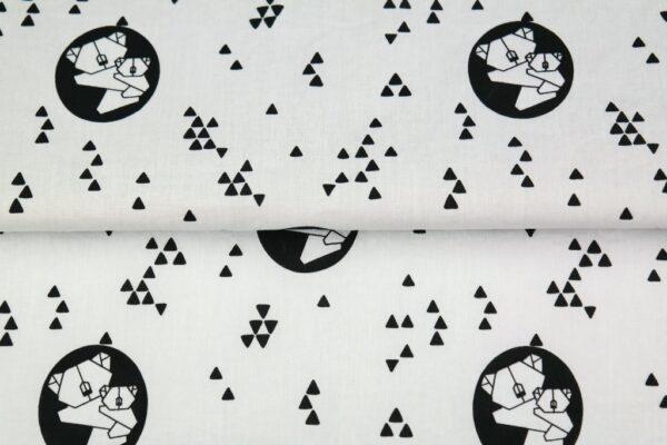 """tissu coton """"origami"""" koala oeko tex"""