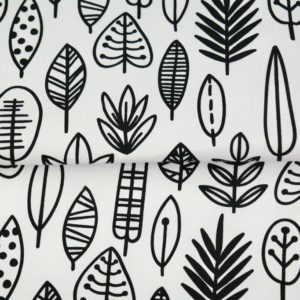 "tissu coton ""origami"" feuilles oeko tex"