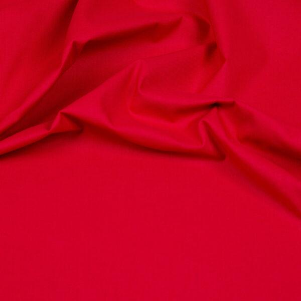 tissu coton uni rouge oeko tex
