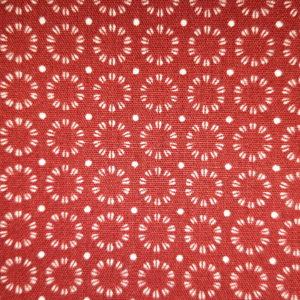 tissu coton soleil rouge oeko tex