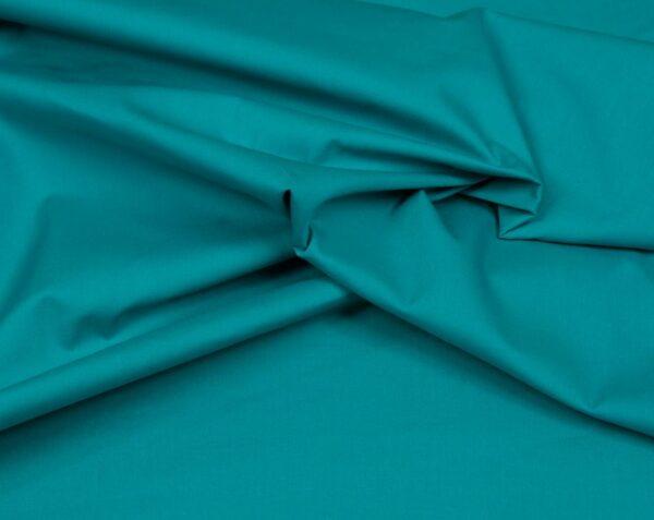 tissu coton uni bleu turquoise oeko tex