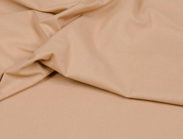tissu coton uni sable oeko tex