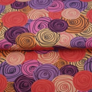 tissu french terry roses psyché multicolor oeko tex