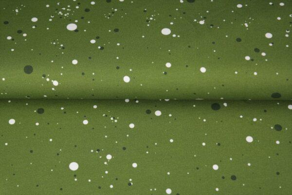 tissu french terry vert mouchetés oeko tex