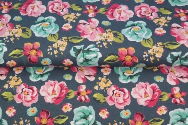 tissu french terry floral oeko tex