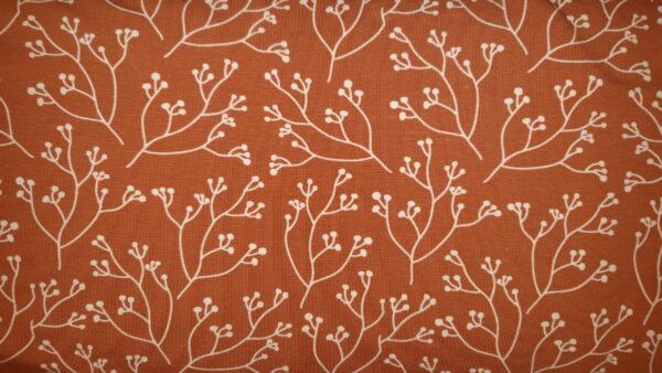 tissu jersey branches rousses oeko tex