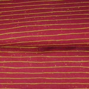 tissu french terry rouge rayé oeko tex