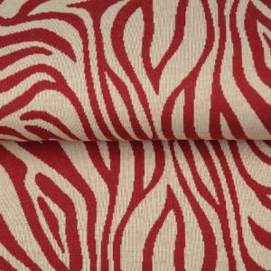 tissu jacquard zèbre rouge oeko tex