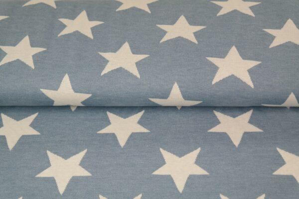 tissu jacquard étoiles bleues oeko tex
