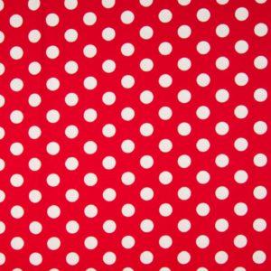 tissu jersey rouge pois blancs oeko tex