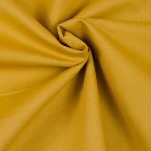 tissu coton popeline uni ocre oeko tex