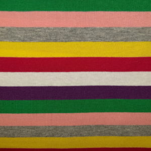 tissu jersey rayé multi colors oeko tex