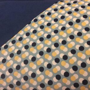 tissu soft shell rond bleus