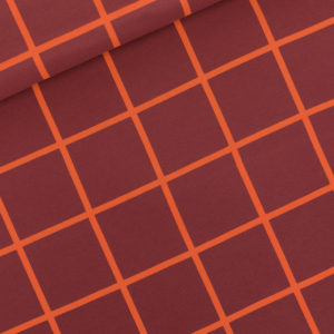 French Terry Grid XL bordeaux See You At Six oekotex