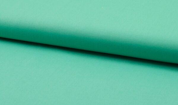 tissu coton uni turquoise oeko tex