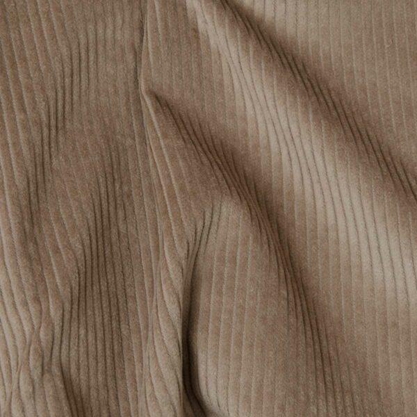 tissu velours grosses côtes marron clair oerkotex