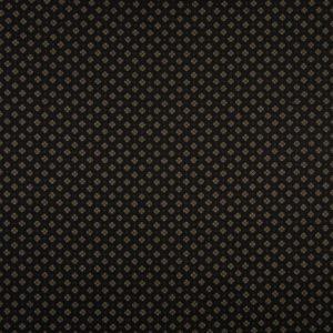 tissu coton noir - fleurs beiges/ocres OEKO TEX