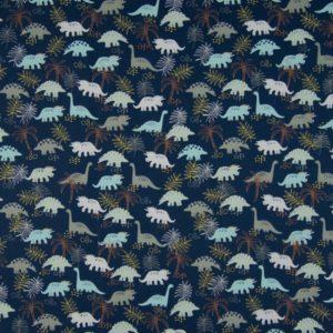 tissu coton dinosaures OEKO TEX