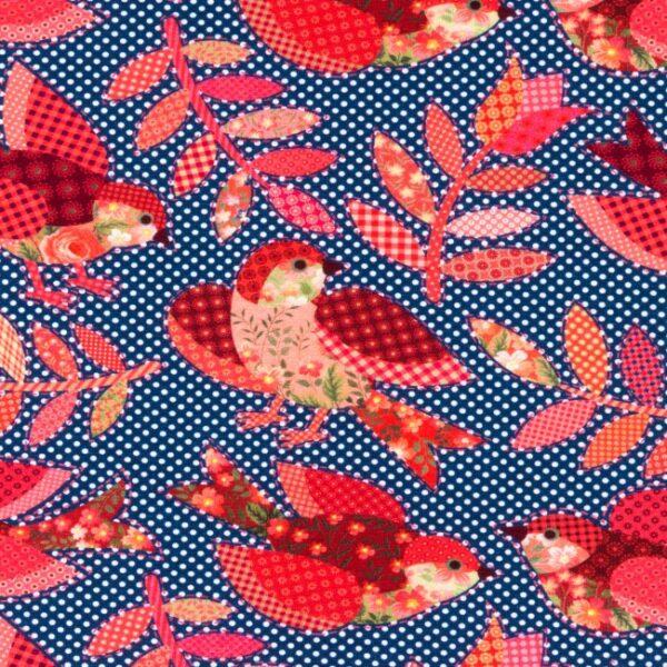tissu jersey oiseaux à pois OEKO TEX
