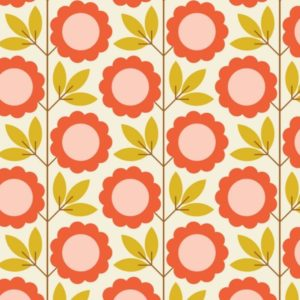 "tissu velours milleraies ""a walk remembered"" fleurs vintage BIO"